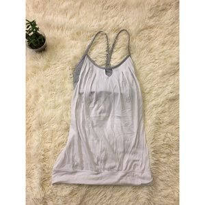 Lululemon White Let it Loose Tank